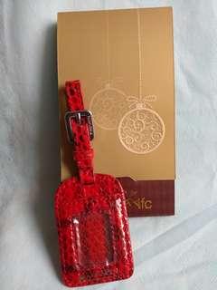 Kwanpen Baggage Tag 紅克色蛇紋行李牌 吊牌 掛牌  1pce  包郵