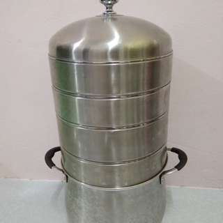 Periuk stainless steel stock pot n multi purpose steamer