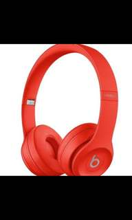 [New] Beats Solo 3 Wireless (PRODUCT) RED