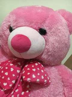 Boneka teddy bear pink 1,5 meter