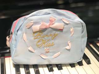 Bunny Baby Blue Cosmetics Pouch