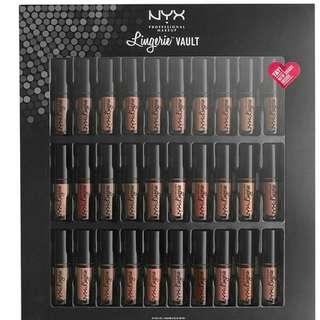 Nyx Lingerie Vault 30pieces liquid lipstick det