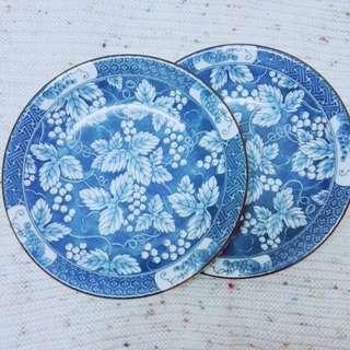 Grape design ceramic plate from Japan