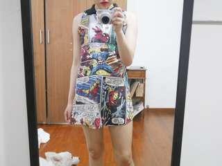 Marvel comic dress