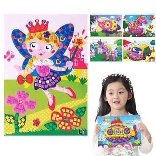 Mosaic 3D stickers pictorial DIY art craft for kids