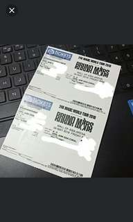 Two Bruno Mars Tickets May 4