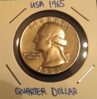 Quarter Dollar USA 1965