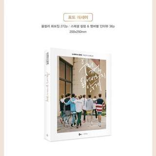Wanna One Photo Essay + Bookmark + Postcard + Paper Frame
