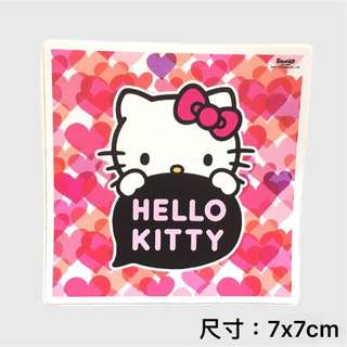 🚚 hello kitty 凱蒂貓 愛心粉 行李箱貼紙 安全帽 貼紙