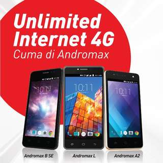 HP 4G MURAH ANDROMAX FREE UNLIMITED INTERNET SEBULAN