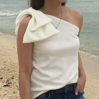 One Side with RibboN Blouse