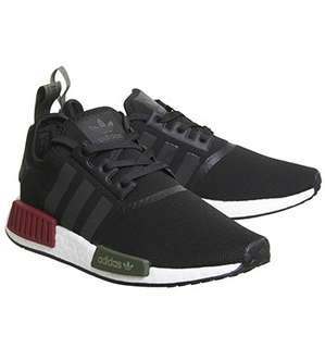Adidas NMD R1 Black Burgundy Olive - Offspring UK Exclusive