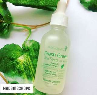 Natural pacific fresh greentea seed serum