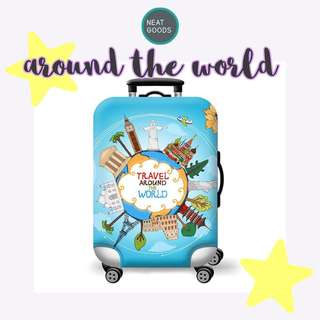 Around the World Luggage Cover