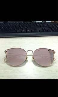 gold pink sunglassess kacamata mirror bukan zara vincci charles keith h&m