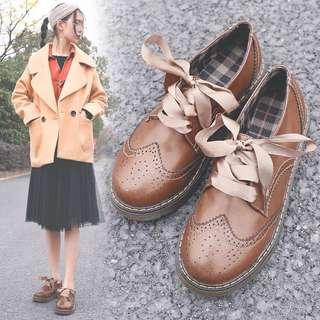 兩種綁帶唷❤️日系妹子綁帶皮鞋