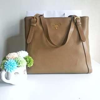 BNEW Prada Vitello Phenix Leather Tote Large 1bg064 Shoulder Bag AUTHENTIC