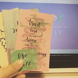 Calligraphic quotes/bible verses