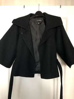 Club Monaco cropped cape coat