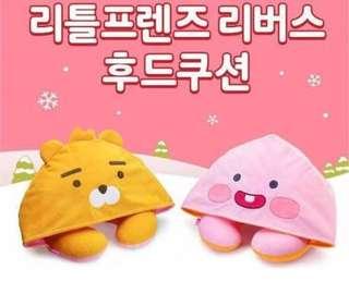 期間限定 Kakao Friends 韓國旅行雙面連帽頸枕 Ryan & Apeach