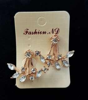 Rose gold Korean style earring