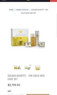 Kedma by Jericho 24k Golden Quartet Skin Care Set