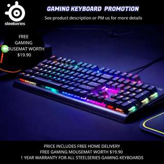 Steelseries Gaming Keyboard Promotion