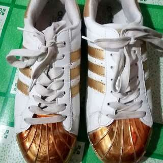 Adidas Superstar Metal Toe In Gold Size 6-6.5
