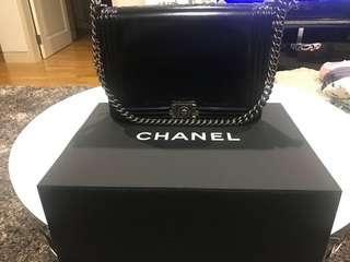 Chanel Black Boy Bag Gunmetal