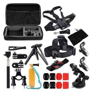 GStation Basic Outdoor Sports Accessories Bundle Kit for Gopro Sports Xiaomi Yi Action Camera