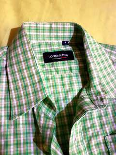 London Boy Green Checkered Polo