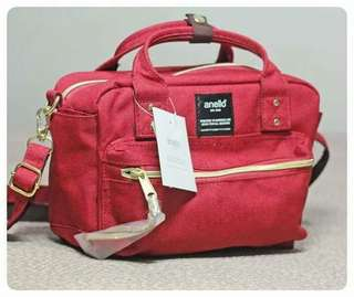 Anello Red Mini Sling Bag