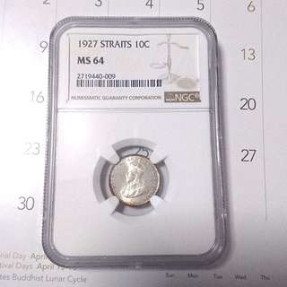 Straits settlement 10 cent