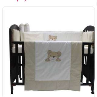 MADE IN EUROPE - Cot bumper and quilt