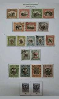 North Borneo 1909-22 Loose Set Up To $2 Short Of $5 & $10 -18v Used Malaya Stamps