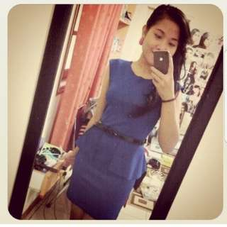 Dress electric blue