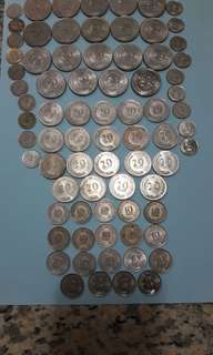 Singapore 5,10,20,50 cent.coin67/85