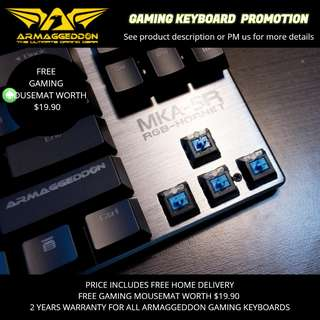 Armaggeddon Gaming Keyboard Promotion
