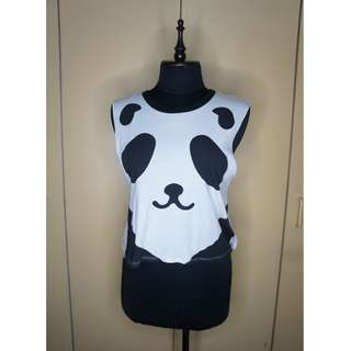F21 Panda Crop Top