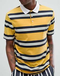 Retro stripes rugby polo shirt from Asos