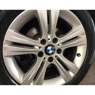 "Original BMW 17"" rim with Michelin PS4 tyre"