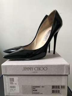 Jimmy Choo Anouk patent black size 41.5 高跟鞋/高踭鞋 12cm