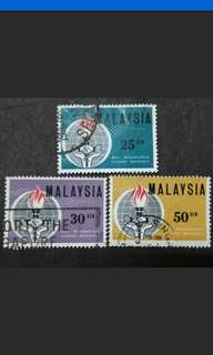 Malaysia 1964 Eleanor Roosevelt Complete Set - 3v Used Stamps #2