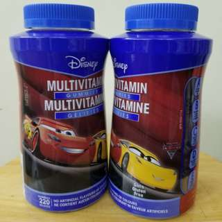 #2bdaysale 全新反斗車王 Multivitamin Gummies 220粒/樽 (1樽$120,2樽$230)