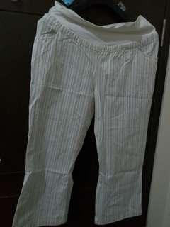 Celana Hamil Salur Lurus 7/8 Size M