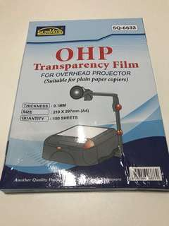 SureMark OHP Transparency Film For Overhead Projector