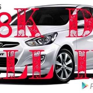 Hyundai accent 18k dp.