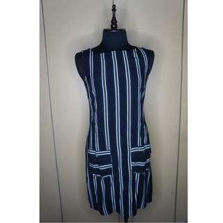 Dorothy Perkins black and white striped dress