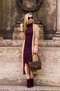 Cardigan and dress