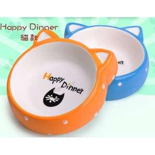 🚚 現貨#A26-27 Happy Dinner款 中小型犬貓寵物碗
